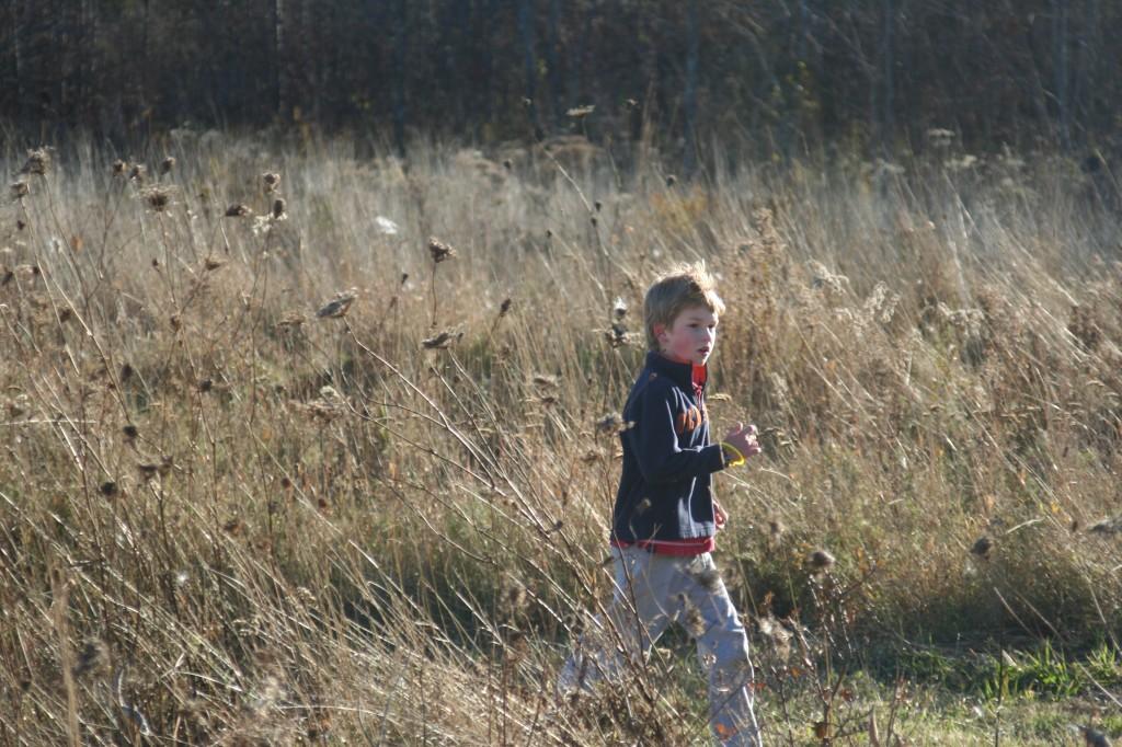 Luke on the run!