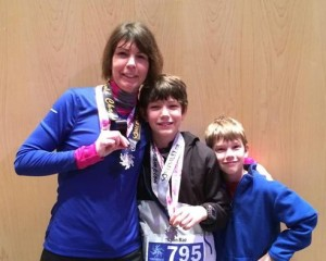 Gold and silver winners - and a great spectator!