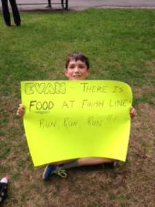 The sign I made for Evan.