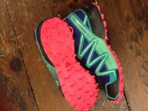 One of my pair of Salomons.