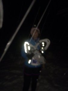 Really, that is me in the snow and dark.