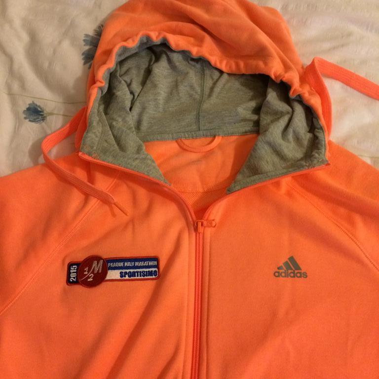 A comfy (and very bright) Adidas Prague Half Marathon hoodie.