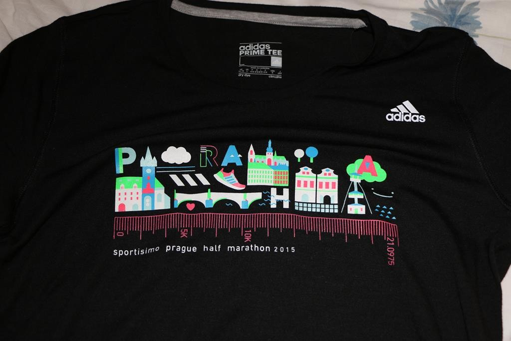 "My ""Praha""shirt, with well known buildings and a measuring tape underneath showing 21.1"