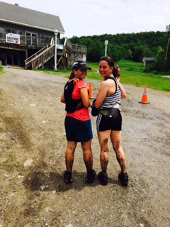 Two of my fellow runners with the mud to prove they were trail running!