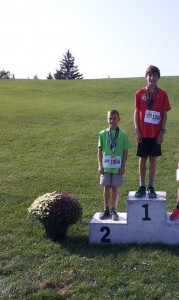Evan in first and a good friend of his getting second.