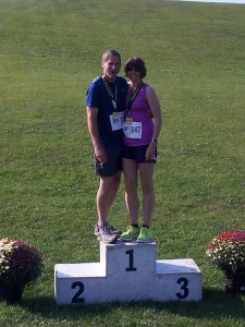 Mike and I on the podium.