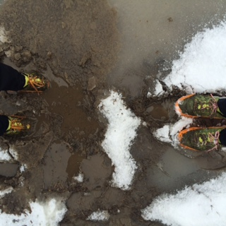 Snow, water and mud all in one run.