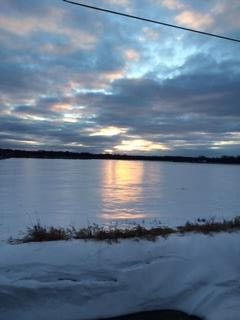It wouldn't be winter without ice. This is not a lake, it is a field near my house.