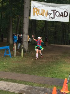 Finishing my third 50k distance happy!