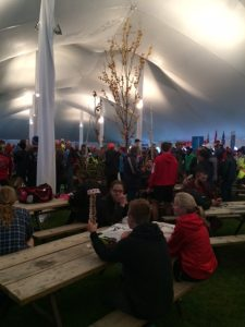 The main tent before the race. This was where you could come in and eat after your race.